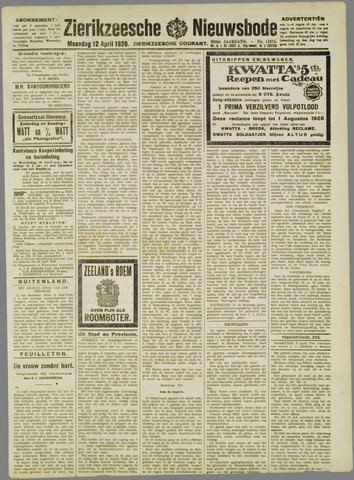 Zierikzeesche Nieuwsbode 1926-04-12