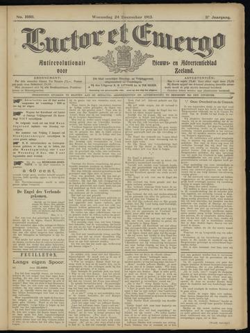 Luctor et Emergo. Antirevolutionair nieuws- en advertentieblad voor Zeeland / Zeeuwsch-Vlaanderen. Orgaan ter verspreiding van de christelijke beginselen in Zeeuwsch-Vlaanderen 1913-12-24