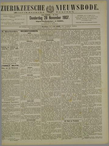 Zierikzeesche Nieuwsbode 1907-11-28