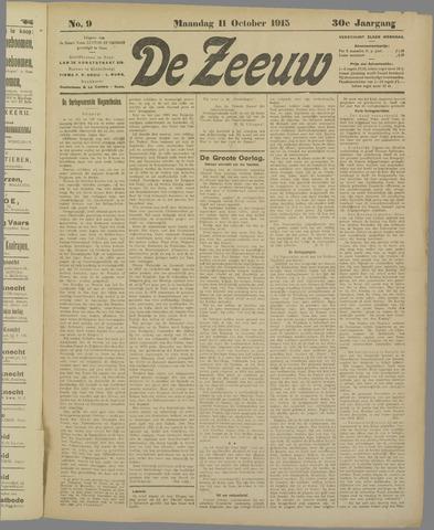 De Zeeuw. Christelijk-historisch nieuwsblad voor Zeeland 1915-10-11