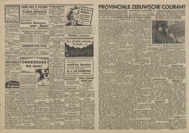 Provinciale Zeeuwse Courant 1942-12-17