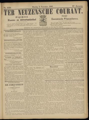 Ter Neuzensche Courant. Algemeen Nieuws- en Advertentieblad voor Zeeuwsch-Vlaanderen / Neuzensche Courant ... (idem) / (Algemeen) nieuws en advertentieblad voor Zeeuwsch-Vlaanderen 1897-11-02