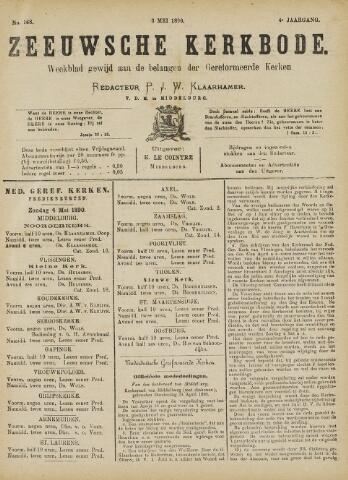 Zeeuwsche kerkbode, weekblad gewijd aan de belangen der gereformeerde kerken/ Zeeuwsch kerkblad 1890-05-03