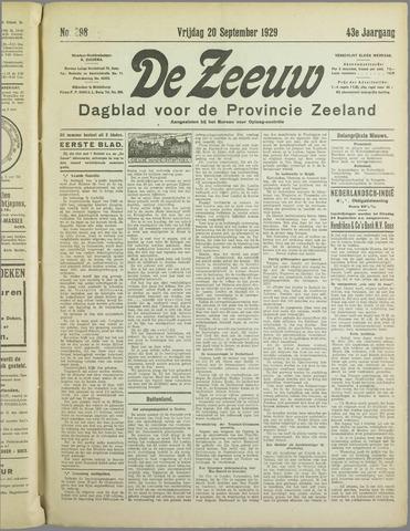 De Zeeuw. Christelijk-historisch nieuwsblad voor Zeeland 1929-09-20
