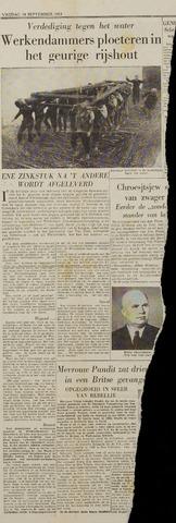 Watersnood documentatie 1953 - kranten 1953-09-18