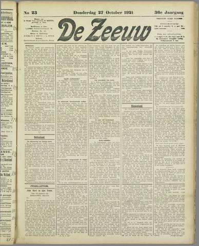 De Zeeuw. Christelijk-historisch nieuwsblad voor Zeeland 1921-10-27