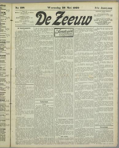 De Zeeuw. Christelijk-historisch nieuwsblad voor Zeeland 1920-05-26