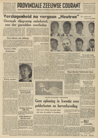 Provinciale Zeeuwse Courant 1957-07-17
