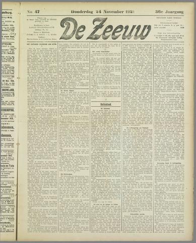De Zeeuw. Christelijk-historisch nieuwsblad voor Zeeland 1921-11-24