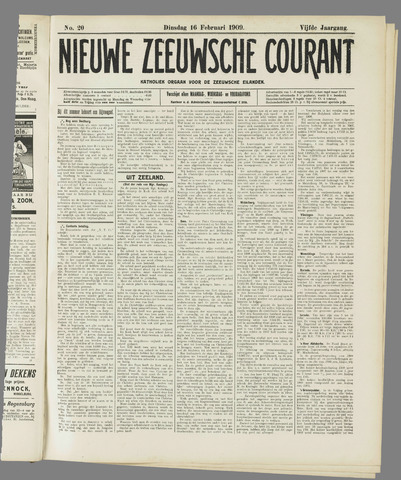 Nieuwe Zeeuwsche Courant 1909-02-16