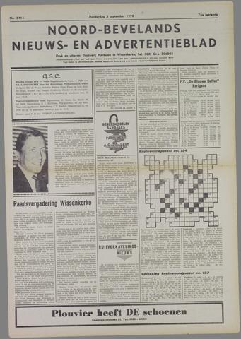 Noord-Bevelands Nieuws- en advertentieblad 1970-09-03