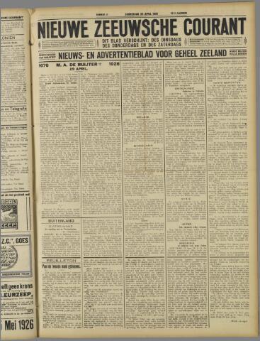 Nieuwe Zeeuwsche Courant 1926-04-29