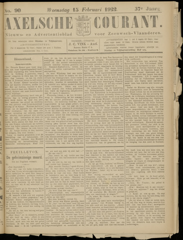 Axelsche Courant 1922-02-15