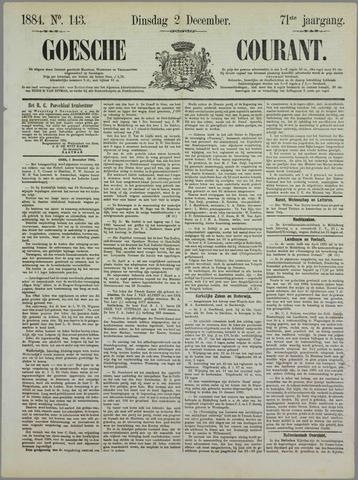 Goessche Courant 1884-12-02
