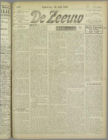 De Zeeuw. Christelijk-historisch nieuwsblad voor Zeeland 1921-07-16