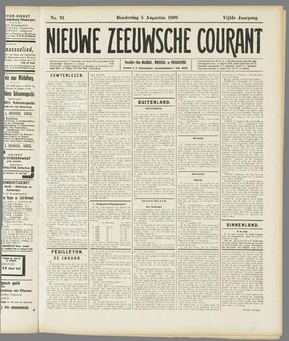 Nieuwe Zeeuwsche Courant 1909-08-05