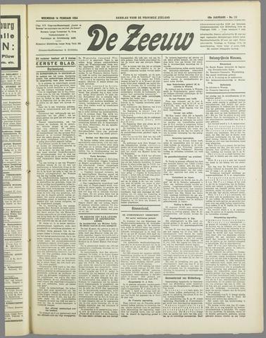 De Zeeuw. Christelijk-historisch nieuwsblad voor Zeeland 1934-02-14