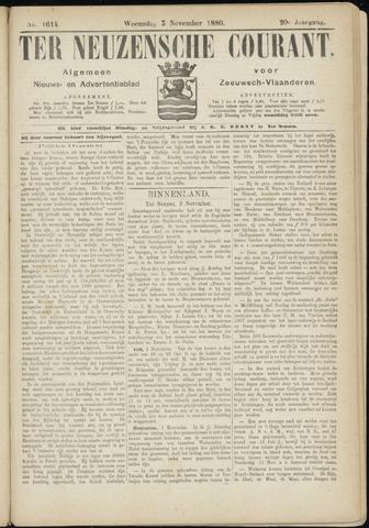 Ter Neuzensche Courant. Algemeen Nieuws- en Advertentieblad voor Zeeuwsch-Vlaanderen / Neuzensche Courant ... (idem) / (Algemeen) nieuws en advertentieblad voor Zeeuwsch-Vlaanderen 1880-11-03