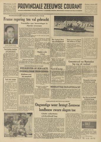 Provinciale Zeeuwse Courant 1957-10-01