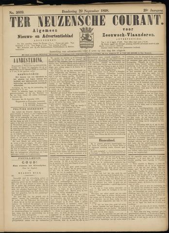 Ter Neuzensche Courant. Algemeen Nieuws- en Advertentieblad voor Zeeuwsch-Vlaanderen / Neuzensche Courant ... (idem) / (Algemeen) nieuws en advertentieblad voor Zeeuwsch-Vlaanderen 1898-09-29