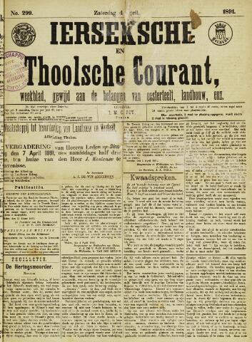 Ierseksche en Thoolsche Courant 1891-04-04
