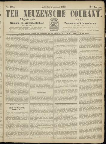 Ter Neuzensche Courant. Algemeen Nieuws- en Advertentieblad voor Zeeuwsch-Vlaanderen / Neuzensche Courant ... (idem) / (Algemeen) nieuws en advertentieblad voor Zeeuwsch-Vlaanderen 1888-01-07