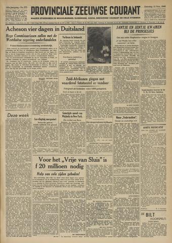 Provinciale Zeeuwse Courant 1949-11-12