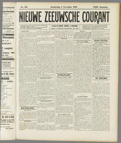 Nieuwe Zeeuwsche Courant 1909-11-04
