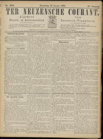 Ter Neuzensche Courant. Algemeen Nieuws- en Advertentieblad voor Zeeuwsch-Vlaanderen / Neuzensche Courant ... (idem) / (Algemeen) nieuws en advertentieblad voor Zeeuwsch-Vlaanderen 1901-01-24