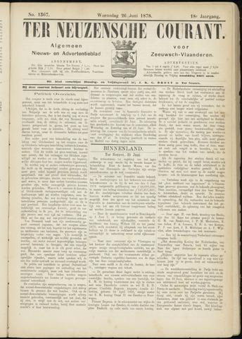 Ter Neuzensche Courant. Algemeen Nieuws- en Advertentieblad voor Zeeuwsch-Vlaanderen / Neuzensche Courant ... (idem) / (Algemeen) nieuws en advertentieblad voor Zeeuwsch-Vlaanderen 1878-06-26