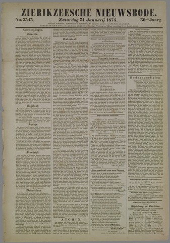 Zierikzeesche Nieuwsbode 1874-01-31