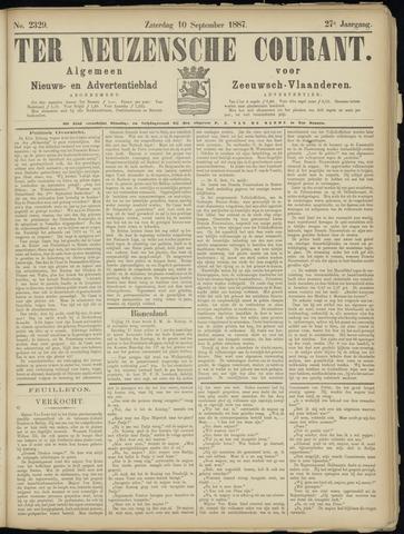 Ter Neuzensche Courant. Algemeen Nieuws- en Advertentieblad voor Zeeuwsch-Vlaanderen / Neuzensche Courant ... (idem) / (Algemeen) nieuws en advertentieblad voor Zeeuwsch-Vlaanderen 1887-09-10
