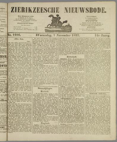 Zierikzeesche Nieuwsbode 1855-11-07