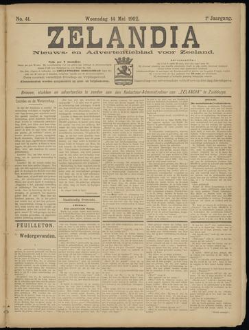 Zelandia. Nieuws-en advertentieblad voor Zeeland | edities: Het Land van Hulst en De Vier Ambachten 1902-05-14