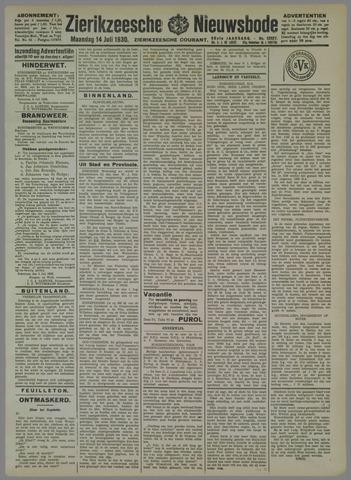 Zierikzeesche Nieuwsbode 1930-07-14