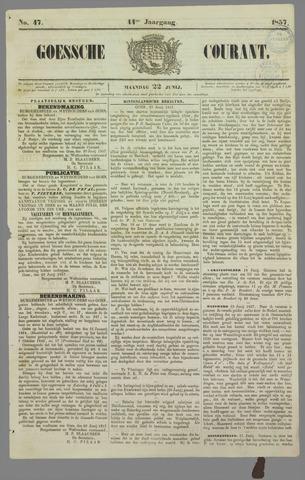 Goessche Courant 1857-06-22
