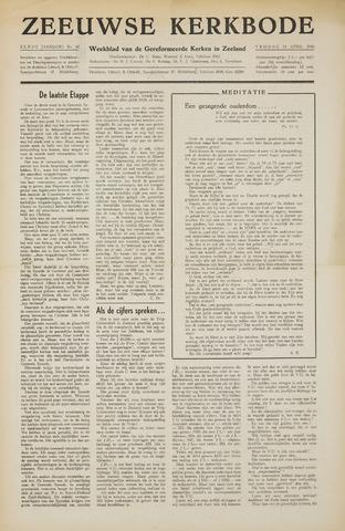 Zeeuwsche kerkbode, weekblad gewijd aan de belangen der gereformeerde kerken/ Zeeuwsch kerkblad 1956-04-13