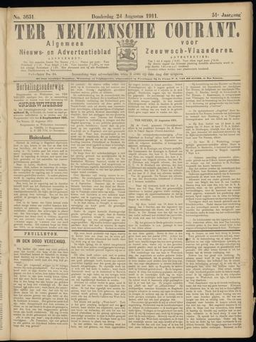 Ter Neuzensche Courant. Algemeen Nieuws- en Advertentieblad voor Zeeuwsch-Vlaanderen / Neuzensche Courant ... (idem) / (Algemeen) nieuws en advertentieblad voor Zeeuwsch-Vlaanderen 1911-08-24