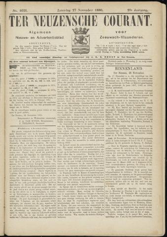 Ter Neuzensche Courant. Algemeen Nieuws- en Advertentieblad voor Zeeuwsch-Vlaanderen / Neuzensche Courant ... (idem) / (Algemeen) nieuws en advertentieblad voor Zeeuwsch-Vlaanderen 1880-11-27
