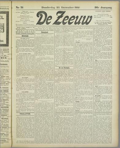 De Zeeuw. Christelijk-historisch nieuwsblad voor Zeeland 1921-12-22