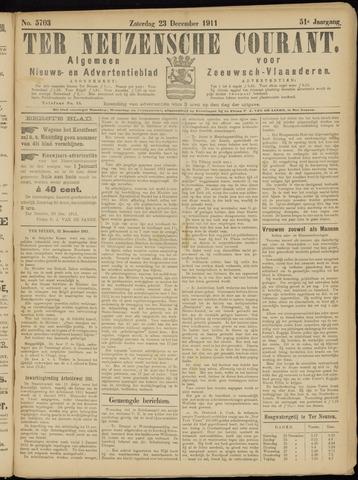 Ter Neuzensche Courant. Algemeen Nieuws- en Advertentieblad voor Zeeuwsch-Vlaanderen / Neuzensche Courant ... (idem) / (Algemeen) nieuws en advertentieblad voor Zeeuwsch-Vlaanderen 1911-12-23