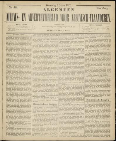 Ter Neuzensche Courant. Algemeen Nieuws- en Advertentieblad voor Zeeuwsch-Vlaanderen / Neuzensche Courant ... (idem) / (Algemeen) nieuws en advertentieblad voor Zeeuwsch-Vlaanderen 1870-03-02