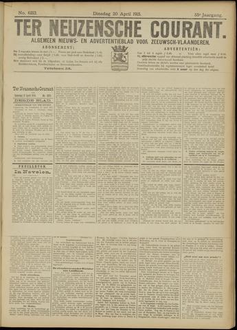 Ter Neuzensche Courant. Algemeen Nieuws- en Advertentieblad voor Zeeuwsch-Vlaanderen / Neuzensche Courant ... (idem) / (Algemeen) nieuws en advertentieblad voor Zeeuwsch-Vlaanderen 1915-04-20
