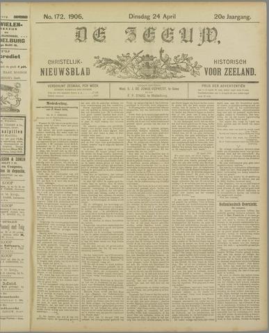 De Zeeuw. Christelijk-historisch nieuwsblad voor Zeeland 1906-04-24
