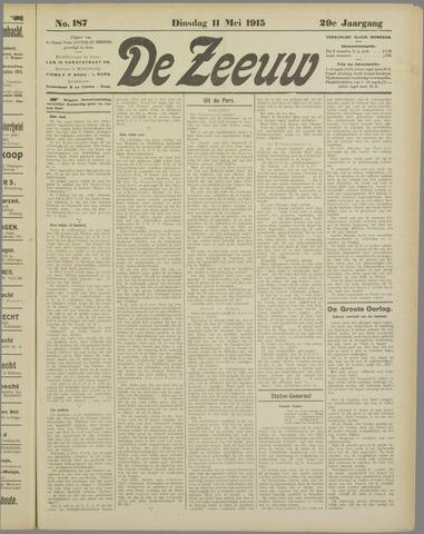 De Zeeuw. Christelijk-historisch nieuwsblad voor Zeeland 1915-05-11