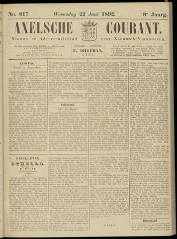 Axelsche Courant 1892-06-22