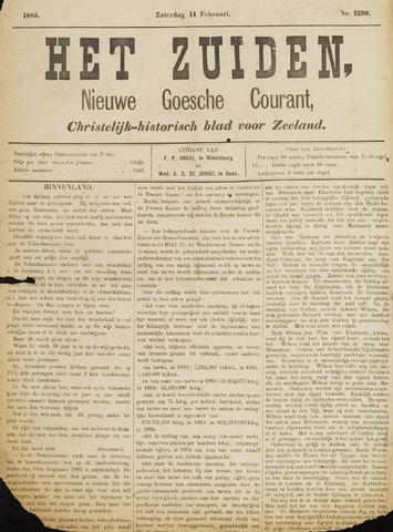 Het Zuiden, Christelijk-historisch blad 1885-02-14