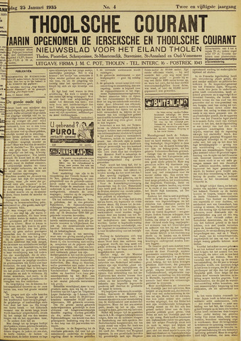 Ierseksche en Thoolsche Courant 1935-01-25
