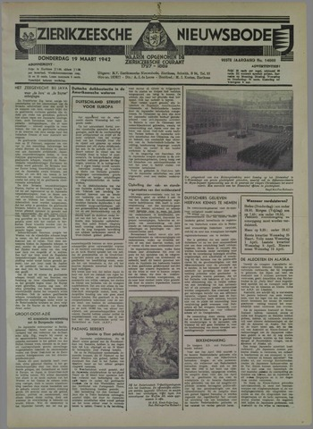 Zierikzeesche Nieuwsbode 1942-03-19