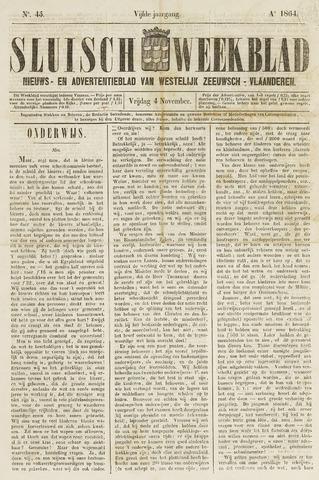 Sluisch Weekblad. Nieuws- en advertentieblad voor Westelijk Zeeuwsch-Vlaanderen 1864-11-04